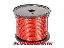 Stromkabel Strom Kabel ROT 10qmm für Verstärker Endstufe Preis pro METER