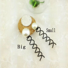 10PCS Pearl Spiral Spin Screw Bobby Pin Hair Clips Lady Twist Barrette Accessory