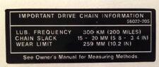KAWASAKI KV75 MT-1 Calcomanía de advertencia de precaución Cadena de Bicicleta Mono