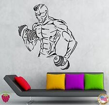 Wall Stickers Vinyl DecaI Gym Sports Bodybuilding Fitness Wall Decor Mural ig012