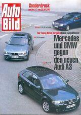 2098AU Audi A3 2.0 TDI BMW 320 Mercedes C220 CDI Test Auto Bild 2003 17/03