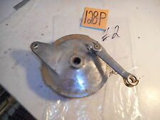 1972 YAMAHA CT1 175 REAR BRAKE PLATE WITH ACTUATOR PARTS & USED SHOES