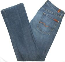 34x33 Made in USA 7 For All Mankind Standard Fit Blue Jeans 100% Cotton Denim