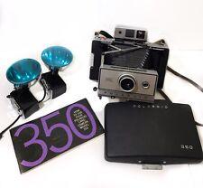 Polaroid 350 Automatic Land Camera Flush Bulbs Manual Film