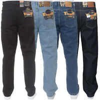 New Mens Straight Regular Leg Basic Plain Work Jeans Pants All Waist Sizes Nice