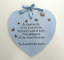 An Angel Wrote...- Handmade Plaque - Personalised Plaque - Memorial Plaque