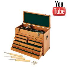 Clarke Wooden Machinist's Tool Chest | Workshop | Antique Brass Finish | New