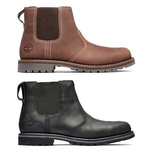Timberland Men's Boot - Timberland Larchmont 2 Chelsea Boots - Black, Mid Brown