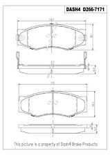 Front Ceramic Brake Pads CD266 Dash 4 Brake