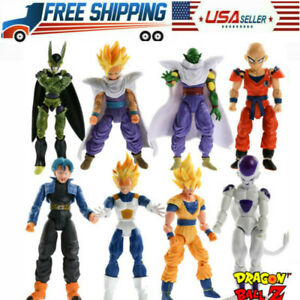 8PCS Dragonball Z Dragon Ball DBZ Goku Vegeta Action Figure Toy Anime Piccolo
