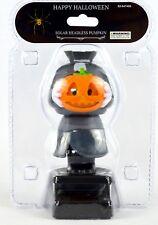 Solar Halloween Headless Man Holding a Pumpkin Solar Powered Dancing Toy NEW