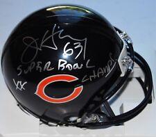 JAY HILGENBERG signed (CHICAGO BEARS) SBXX CHAMPS *MINI FOOTBALL* helmet W/COA