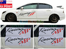 Red Black Big Racing Vinyl Graphics Car Door Side Protector Sticker Sport 70cm