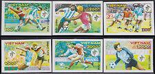 VIETNAM N°1044/1050** Non Dentelé Football, 1990 Vietnam 2082-2088 Imperf MNH