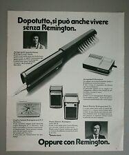 Pubblicità 1972 REMINGTON RASOIO SVEGLIA advertising werbung publicité reklame