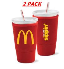 2 McDonald's Soda Java Sok Large Plastic Cup Sleeve 32 oz