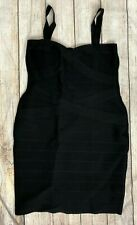 BCBG MaxAzria Bodycon Black Bandage Cocktail Dress White Sexy Mini  A76  *2XL