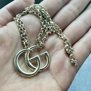 Authentic Gucci GG Logo Necklace