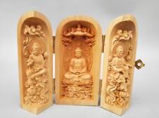 Chinese wood carving Sakyamuni Buddha statue