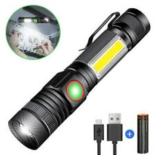 Long range torch Powerful LED rechargeable flash-light Police Shock-resist Solar
