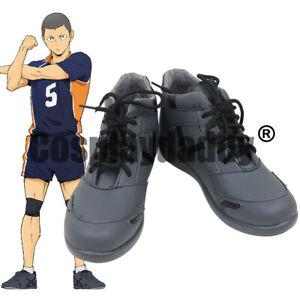 Karasuno High School Ryunosuke Tanaka Anime Cosplay Sports Shoes C006