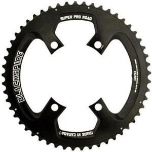 Blackspire Superpro Road Chainring 4 Arm 10 or 11 Speed Black 53T Bike