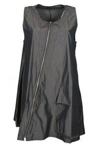 Taft-Kleid Schlamm / Grau ärmellos XADOO Lagenlook 40 42 44 46 48 50 52 54 SALE