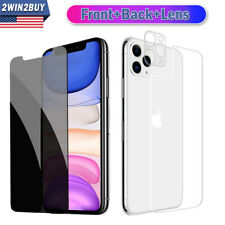 For iPhone 11 Pro Max Anti-Spy Privacy Tempered Glass Lens Screen Protector Film