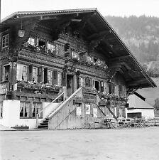 SUISSE c. 1959 - Chalet  Hotel Restaurant Bären Gstaad - Négatif 6 x 6 - Sui 131