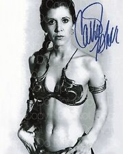 Carrie Fisher signed sexy 5 Princess Leia 8X10 photo picture poster autograph RP