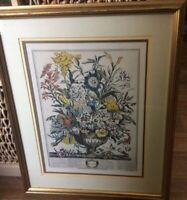 Robert Furber SEPTEMBER Framed Matted Botanical Print H Fletcher Engraver