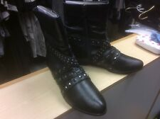 Tamaris black leather boots with studs NEW and size 5.5-6