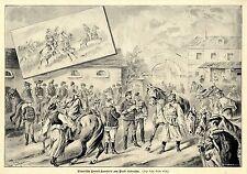 Ungarische Honved Kavallerie zum Dienst einberufen von 1896