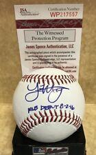 JOE MUSGROVE MLB DEBUT 8-2-16 ASTROS   SIGNED AUTO  M.L BASEBALL  JSA WP217557