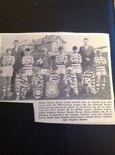 68-4 Ephemera 1968 Picture Mount Charles Junior School Football Team Kellow
