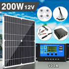 200 Watts Solar Panel Kit 100A 12V Battery Charger With Controller Caravan Boat