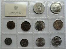 KMS SET 1975 Circulation Coins Poland Polen 10 groszy - 20 zlotych RARE