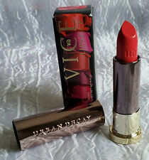 Full sz Urban Decay Vice Matte Permanent Lipstick Tryst Warm Dark Red Coral
