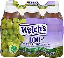 Welch's 100pct White Grape Juice 10oz Bottles Pack of 24 Fruit Juices, New