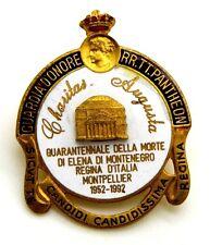 Pin Spilla Guardia D'Onore RR.TT. Pantheon – Quarantennale Della Morte Di Elena