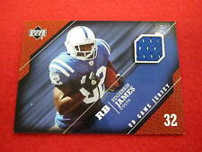 2005 Upper Deck Edgerrin James game jersey football card Colts The U jsy gu