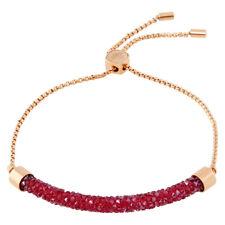 Swarovski Long Beach Rose Gold PVD Bracelet with Pink Crystals