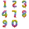 """34"""" Rainbow Ombre Giant Foil Numbers Balloons Birthday Ages Party Decorations"""