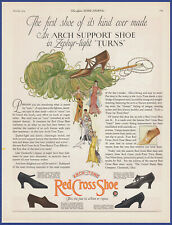 Vintage 1924 RED CROSS SHOE Shoes Women's Footwear Fashion 20's Print Ad