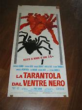 LOCANDINA,1971, La tarantola dal ventre nero,Cavara,Barbara Bouchet,Bach,Auger