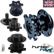 BLACK QUICK RELEASE SNAP OFF STEERING WHEEL HUB BOSS KIT fit MOMO SPARCO OMP