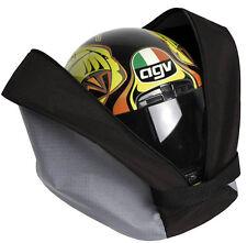 Borsa porta casco per moto con tracolla e tasca porta guanti (38x28x20 cm) nero