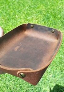 Leather Valet Tray Leather Dump Tray accessory tray dresser gift catch all