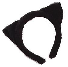Cat Ears Black Fur Costume for Pussy Feline Fancy Dress Outfit Kit Set