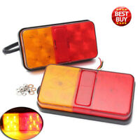 Pair 12V Rear Stop 10 LED Lights Tail Indicator Lamp Trailer Truck Van Lorry AU